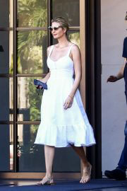 Ivanka Trump in White Dress and Jared Kushner Leaves Her Property in Miami, Florida 02/09/2021 5