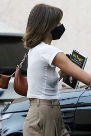 Kaia Jordan Gerber Leaves a Hair Salon in a White Top and Pants Out in Studio City 02/11/2021 4