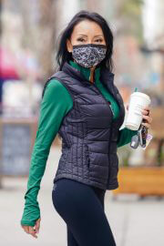 Kelly Mac in Tights Out for Coffee at Urth Cafe in Los Angeles 02/10/2021 4