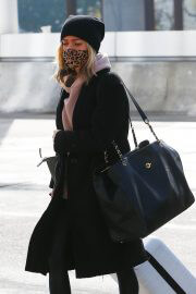 Kristin Cavallari in a Leopard Print Face Mask at LAX Airport in Los Angeles 02/11/2021 6