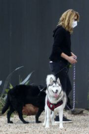 Laura Dern Out with Her Dogs on Her Birthday in Los Angeles 02/10/2021 2