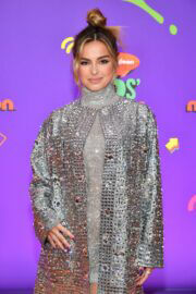Addison Rae showcased her legs in silver dress at Nickelodeon's Kids' Choice Awards in Santa Monica 03/13/2021 7