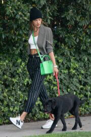 Alessandra Ambrosio Day Out with Her Dog in Santa Monica 03/24/2021 5