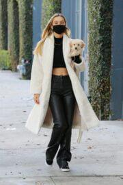 Alexis Ren Showcased Her Flat Tummy During Coffee Run with Her Dog in West Hollywood 03/11/2021 3
