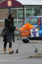 Alison King Day Out for Shopping for Groceries in Wilmslow 03/22/2021 4