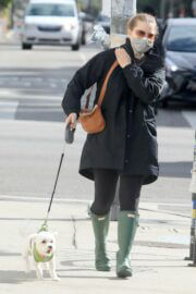 Amy Adams wears Mask for Safety as She is Out with Her Dogs in Los Angeles 03/10/2021 4