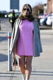 Amy Childs Flashes Her Toned Pins in Bold Pink Dress on the Set of 'The Only Way is Essex' 03/09/2021 3