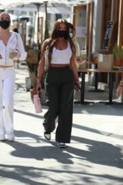 Anastasia Karanikolaou and Kelsey Calemine Out and About at Croft Alley in Beverly Hills 02/24/2021 5