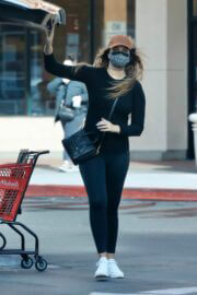 April Love Geary in Black Outfit Shopping at Michael's in Calabasas 03/12/2021 5