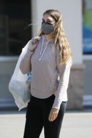 April Love Geary Looks Effortlessly Chic in Hoodie with Jeggings as She is Shopping at Ross in Los Angeles 03/12/2021 1