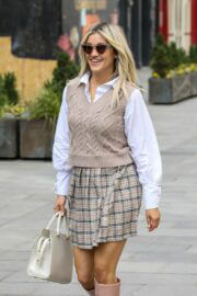 Ashley Roberts Leaves Heart FM Studios After Working on The Breakfast Show in London 02/24/2021 5