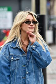 Ashley Roberts Steps Out in Double Denim at Global Studios in London 03/16/2021 1