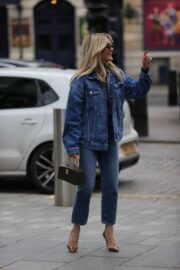 Ashley Roberts Steps Out in Double Denim at Global Studios in London 03/16/2021 9