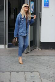 Ashley Roberts Steps Out in Double Denim at Global Studios in London 03/16/2021 10