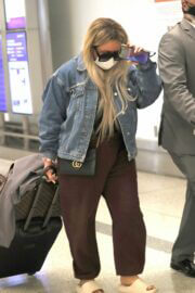 Aubrey O'Day Spotted at LAX Airport in Los Angeles 03/14/2021 5