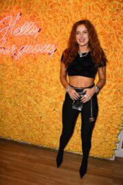 Bella Thorne Flashes Her Toned Arm in Crop Top as She Hosts DJ Set and Listening Party at Sugar Factory in Miami 03/11/2021 3