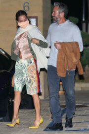 Brooke Burke and Scott Rigsby Night Out for Dinner in Malibu 03/21/2021 3