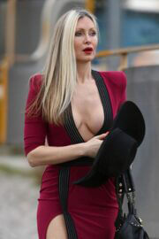 Caprice Bourret in a Skintight Midi Dress Out in London 03/11/2021 2
