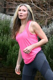 Caprice Bourret is Doing Yoga at a Park in London 03/23/2021 11