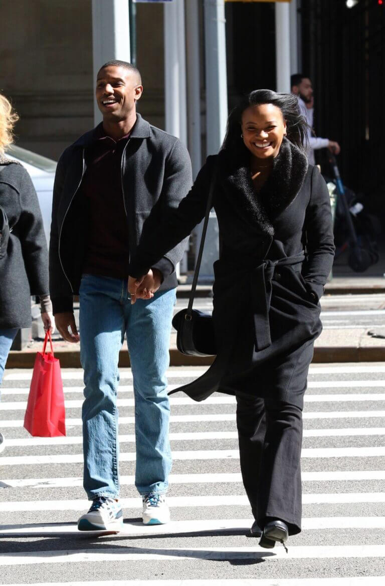Chante Adams and Michael B. Jordan Hold Hands as They are Filming for A Journal for Jordan 03/12/2021 3