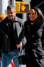 Chante Adams and Michael B. Jordan Hold Hands as They are Filming for A Journal for Jordan 03/12/2021 5