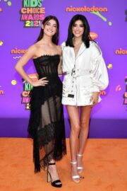 Charli and Dixie D'Amelio Spotted at Nickelodeon's 2021 Kids' Choice Awards in Santa Monica 03/13/2021 2