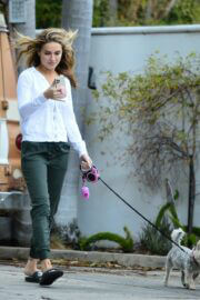 Chrishell Stause Stepped Out with Her Dog in Los Angeles 03/10/2021 2
