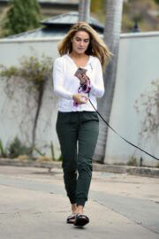 Chrishell Stause Stepped Out with Her Dog in Los Angeles 03/10/2021 3