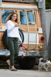 Chrishell Stause Stepped Out with Her Dog in Los Angeles 03/10/2021 5