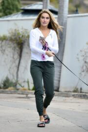 Chrishell Stause Stepped Out with Her Dog in Los Angeles 03/10/2021 7