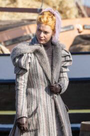 Claire Danes Seen on the Set of The Essex Serpent in London 03/25/2021 5