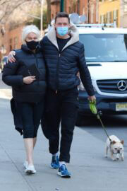 Deborra-Lee Furness with her husband Hugh Jackman Out in New York 03/10/2021 6