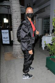 Draya Michele in Sweatsuit Enjoys at Mr. Chow in Beverly Hills 02/24/2021 5
