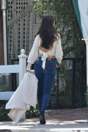 Eiza Gonzalez in Backless Cream Top Spotted at San Vicente Bungalows in West Hollywood 03/13/2021 5