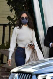 Eiza Gonzalez in Backless Cream Top Spotted at San Vicente Bungalows in West Hollywood 03/13/2021 9