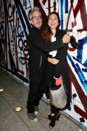 Elisa Jordana and Andy Dick Seen at Craig's in West Hollywood 03/10/2021 3