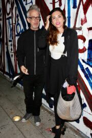 Elisa Jordana and Andy Dick Seen at Craig's in West Hollywood 03/10/2021 5