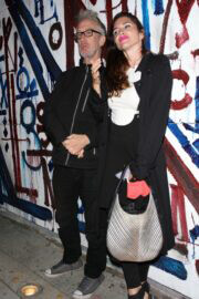 Elisa Jordana and Andy Dick Seen at Craig's in West Hollywood 03/10/2021 7