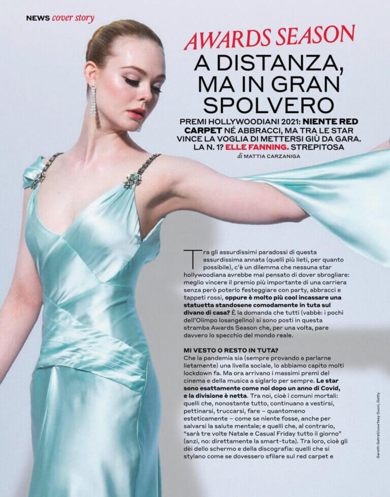 Elle Fanning On The Cover Page Of Style Magazine, March 2021 1