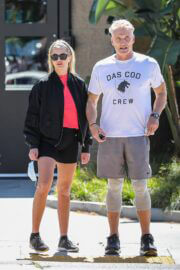 Emma Krokdal and Dolph Lundgren Day Out in Beverly Hills 03/24/2021 7