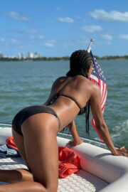 Gabrielle Union Enjoys in Bikinis at a Boat 03/12/2021 11