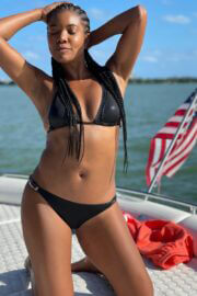 Gabrielle Union Enjoys in Bikinis at a Boat 03/12/2021 12