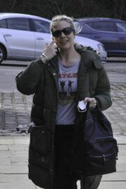 Gemma Atkinson is Seen Arriving at Hits Radio in Manchester 03/22/2021 4