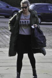 Gemma Atkinson is Seen Arriving at Hits Radio in Manchester 03/22/2021 7