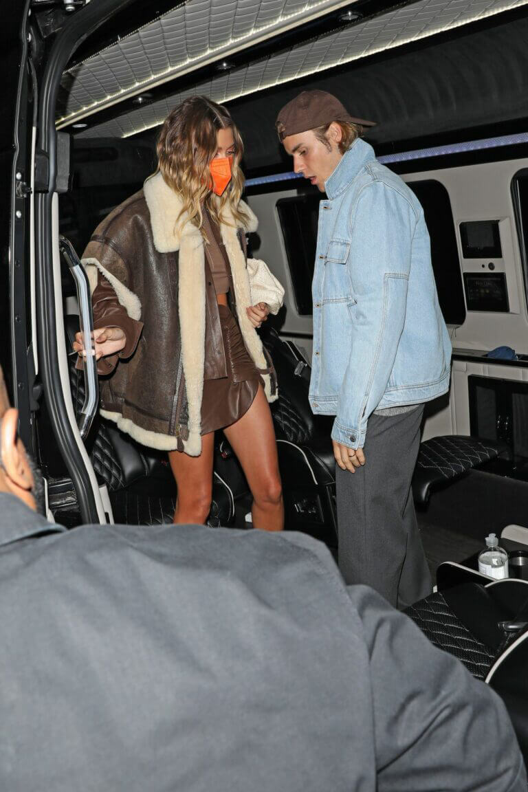 Hailey and Justin Bieber at Nice Guy Celebrates Justin's New Album Release 03/25/2021 1