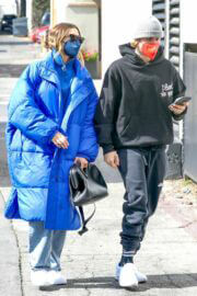 Hailey Bieber and Justin Bieber Spotted Out for Lunch in Beverly Hills 03/14/2021 1