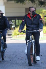 Heather Milligan and Arnold Schwarzenegger Day Out Riding Bikes in Santa Monica 03/13/2021 2