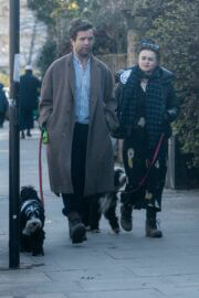 Helena Bonham Carter and Rye Dag Holmboe Steps Out with Their Dogs in London 03/22/2021 5