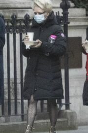 Iris Law and Maisie Williams Seen on the Set of Danny Boyle's Sex Pistols Drama in London 03/22/2021 2
