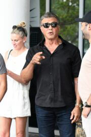 Jennifer Flavin and Sylvester Stallone is Leaving Setai Hotel in Miami 03/19/2021 6